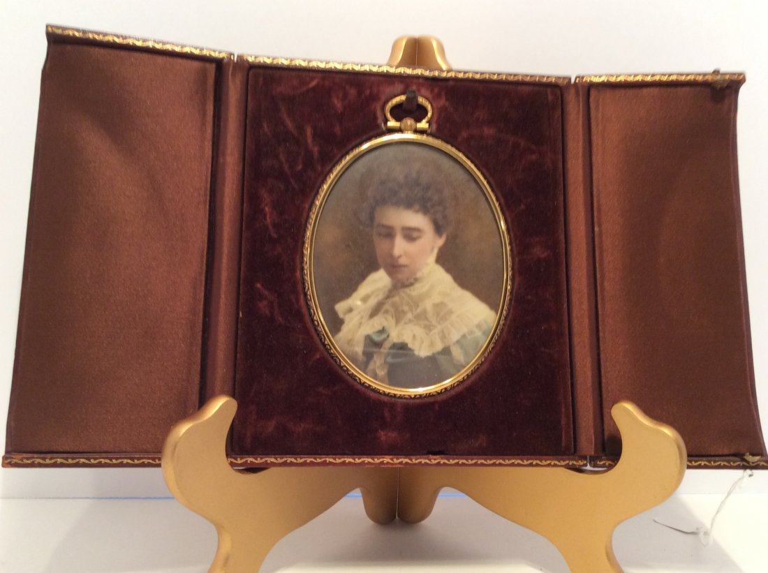 Early 1900 Minniature Oil Painting- Lady Portrait