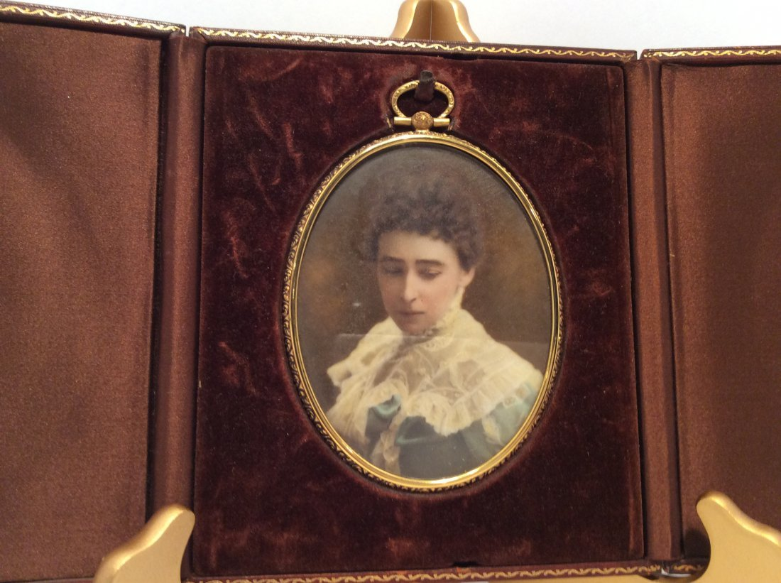 Early 1900 Minniature Oil Painting- Lady Portrait - 2