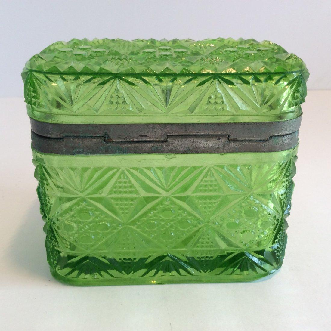 Antique Russian green trinket box - 2