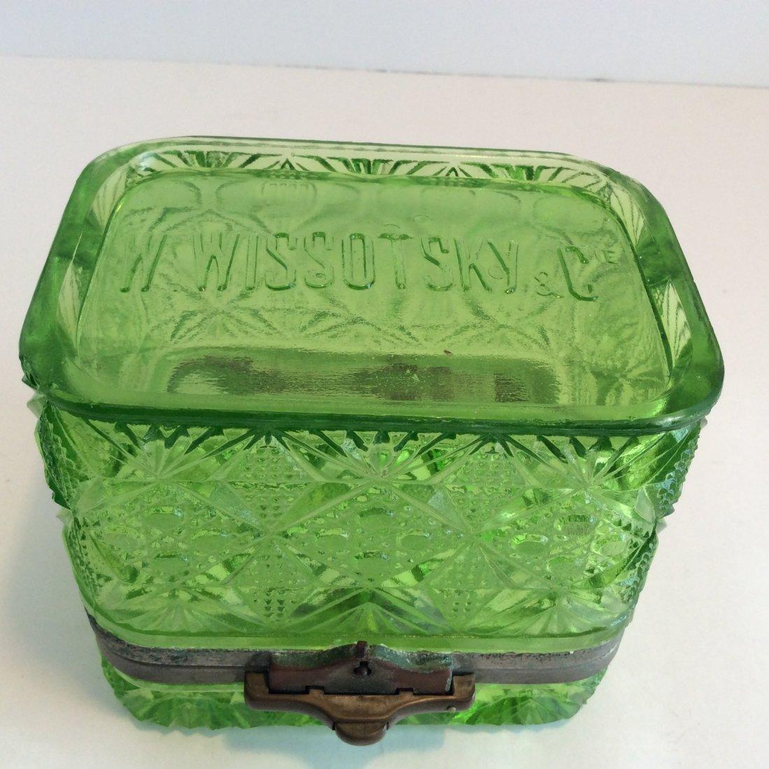 Antique Russian green trinket box - 4