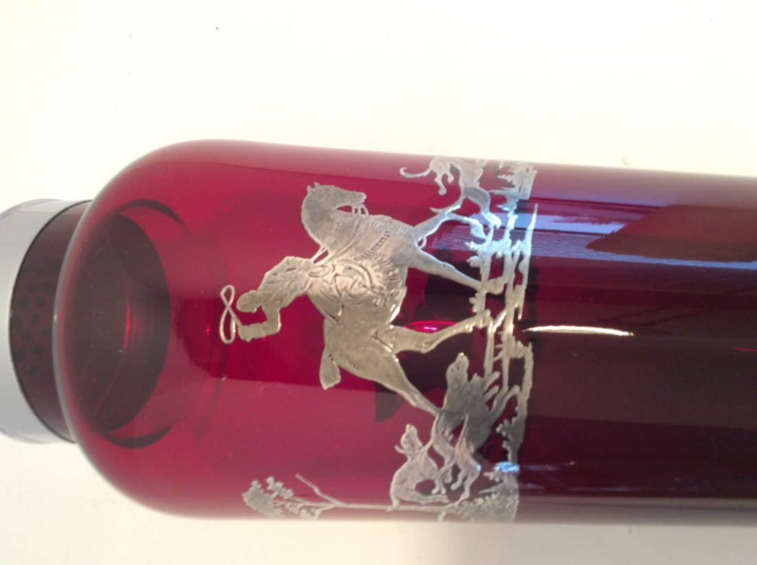 Rube Red / Sterling silver /Cranberry Cocktail Shaker - 2