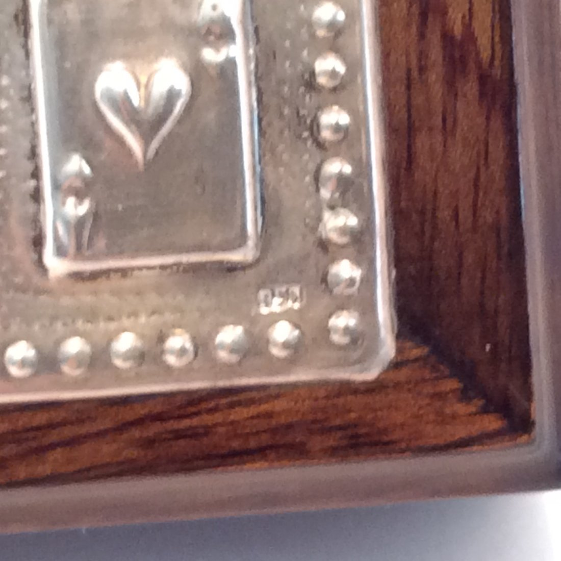 Sterling Silver and Black Walnut Card Box - 2