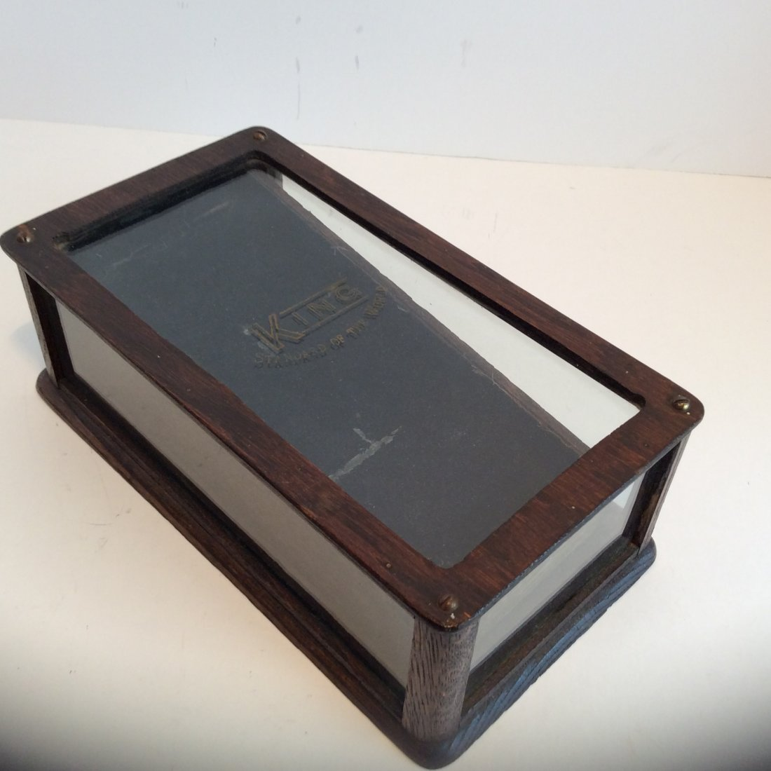 Antique King  stand of the world  display case 1880