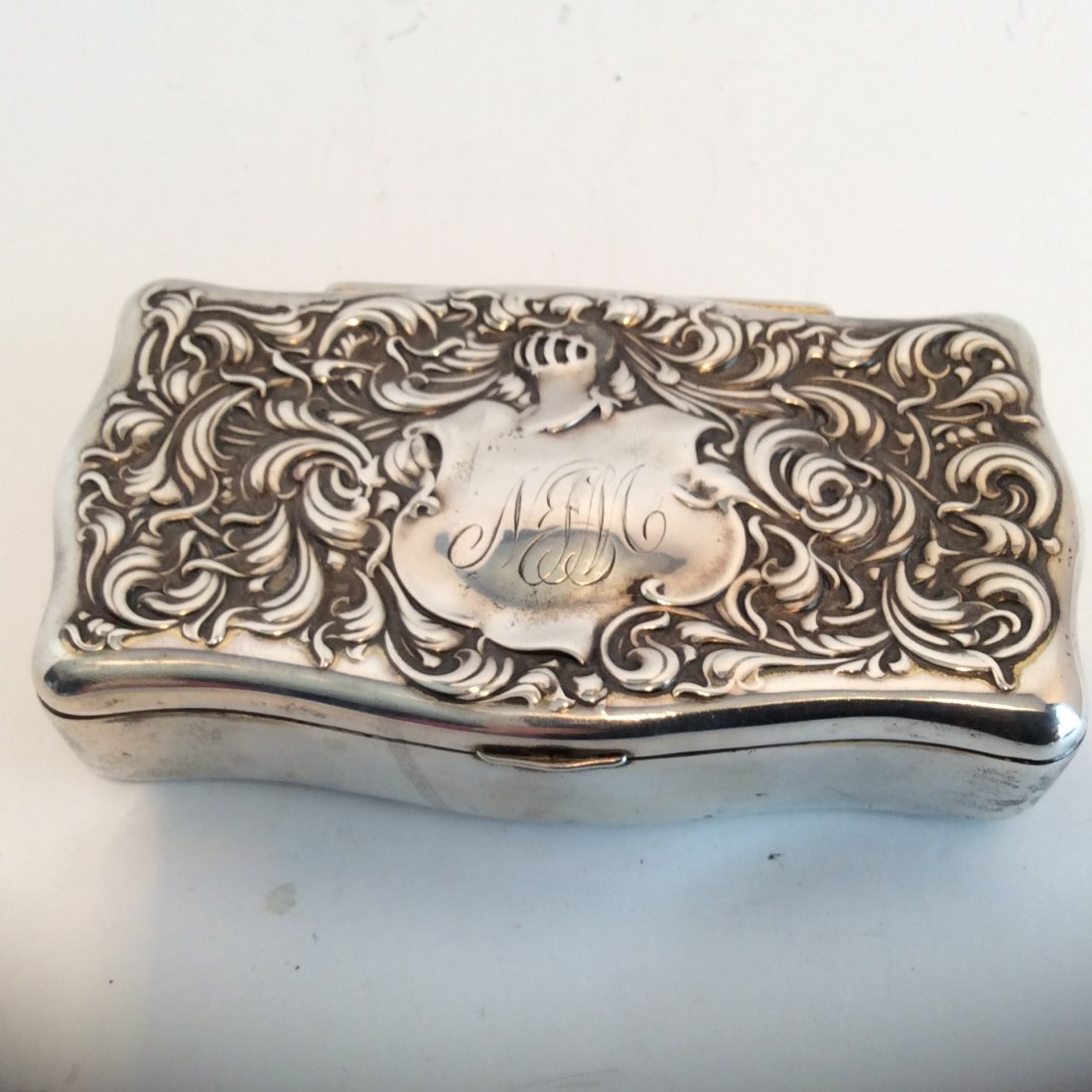 Sterling Silver Trnket Box With Knights Helmet