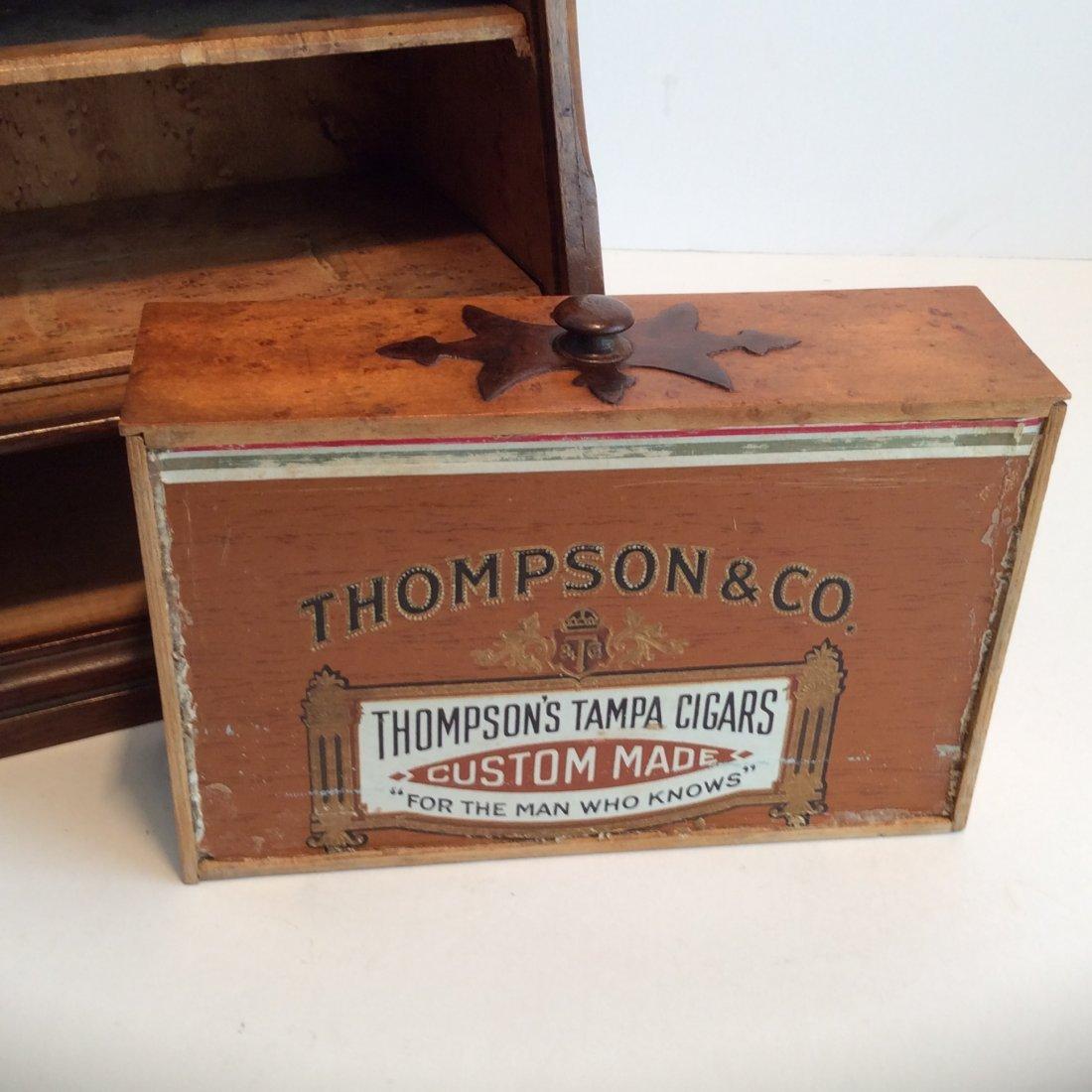 Antique Minniature Birds Eye Maple Roll Top Cabnet 1900 - 5