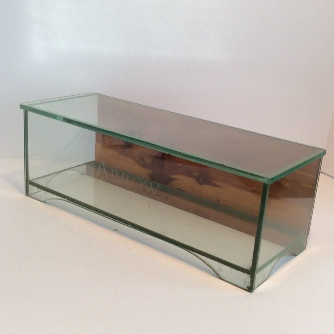 Antique Arrow Handerchiefs Glass Display Case