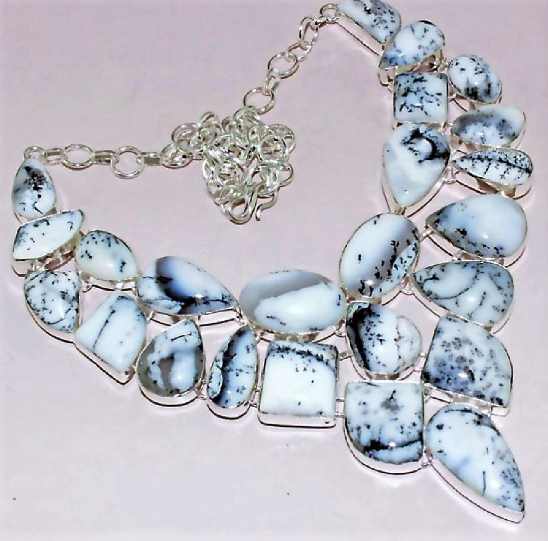 Dendrite Opal Silver Necklace