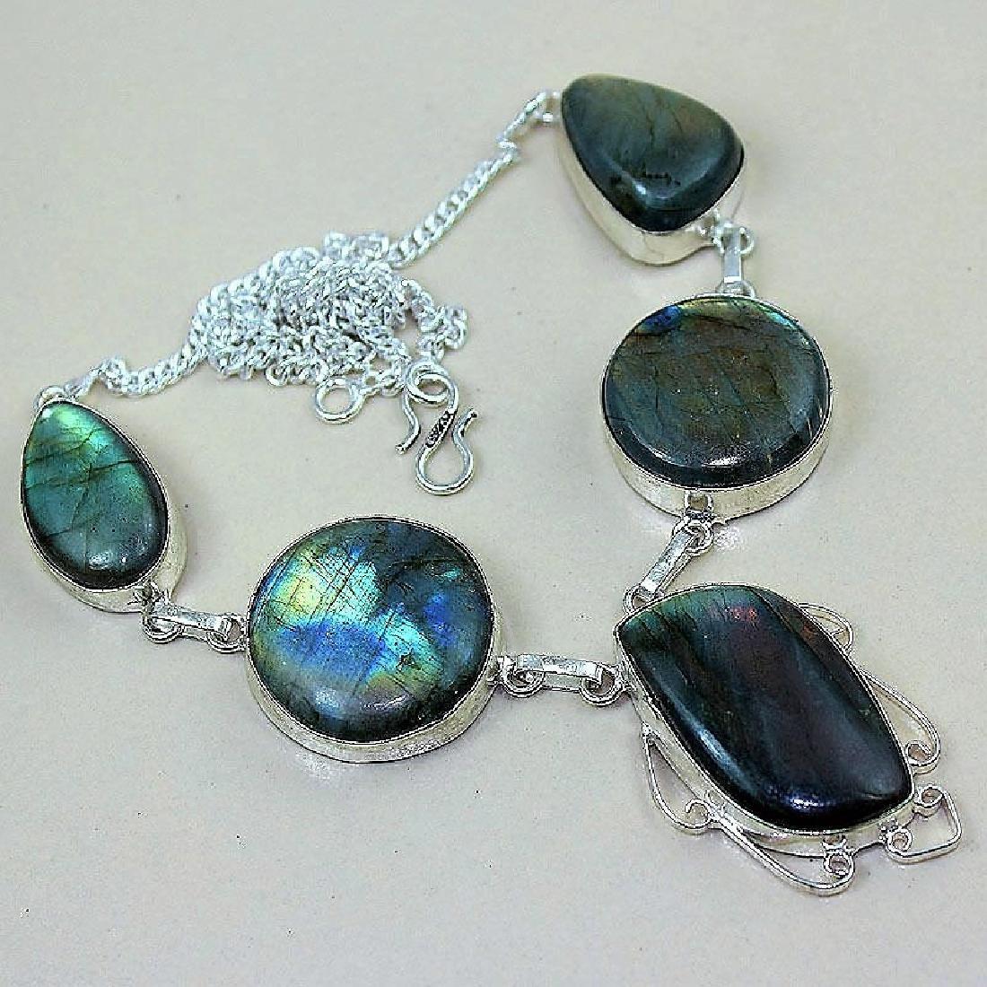 Labradorite Silver Necklace