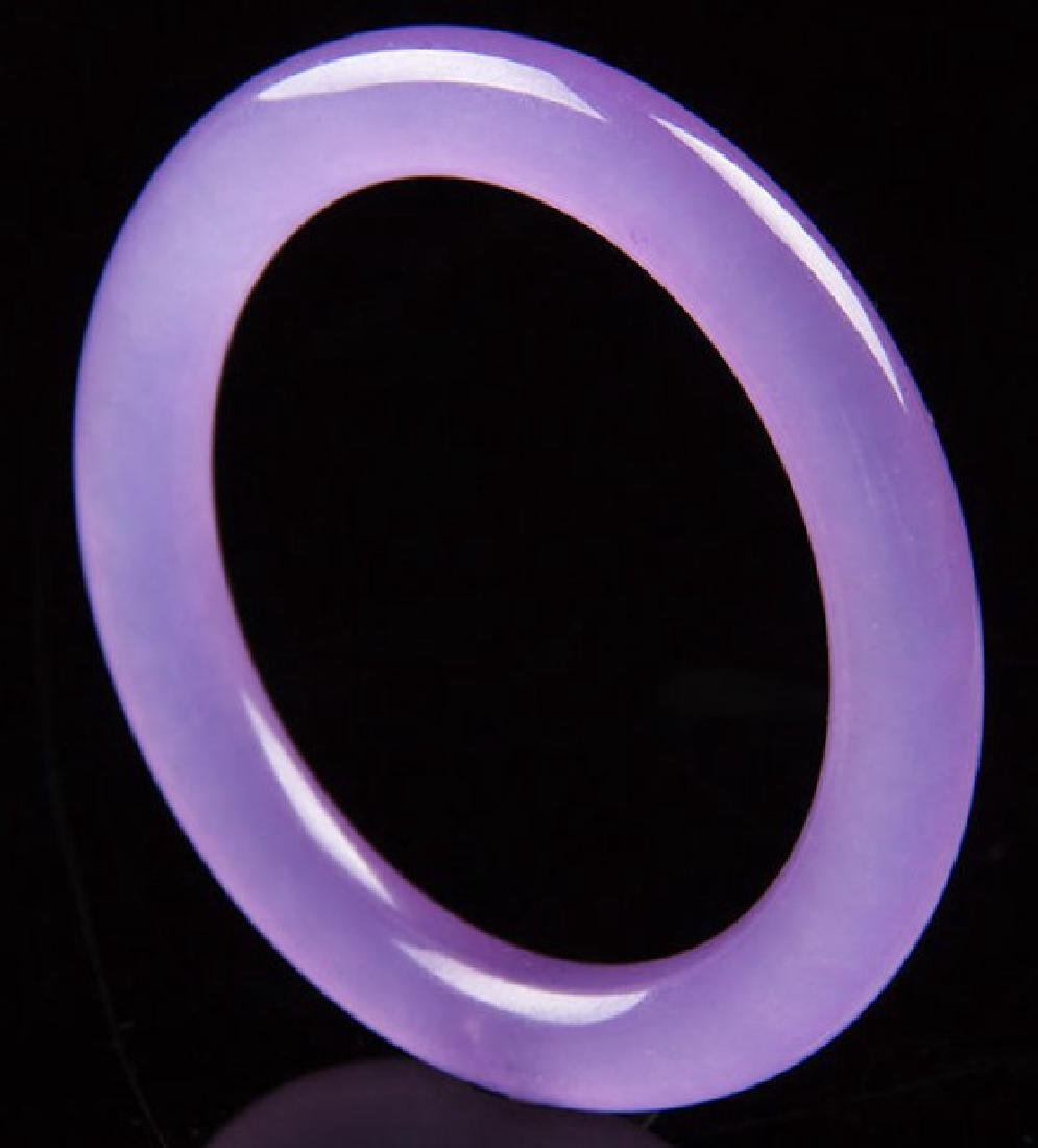 Certified 100% Natural purple Jade Bangle Bracelet
