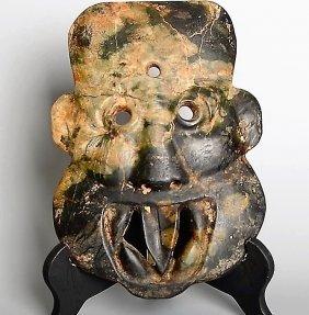 Antique  Sacrificial Sacrificial Sacrificial Jade Mask