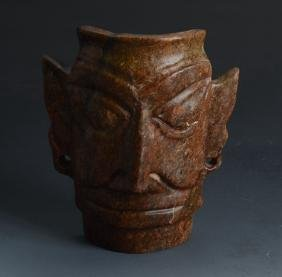 Chinese SanXingDui Culture  Sacrificial Ceremony MASK