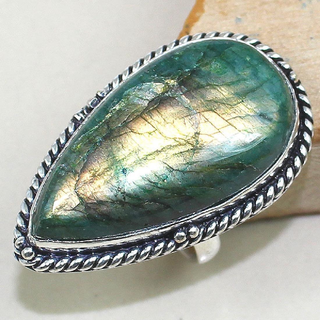 Labradorite 925 Silver Ring