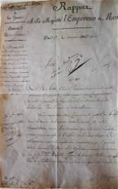 EMPEROR NAPOLÉON . Manuscript