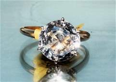 Natural Certified White Sapphire Ladies in 14K G