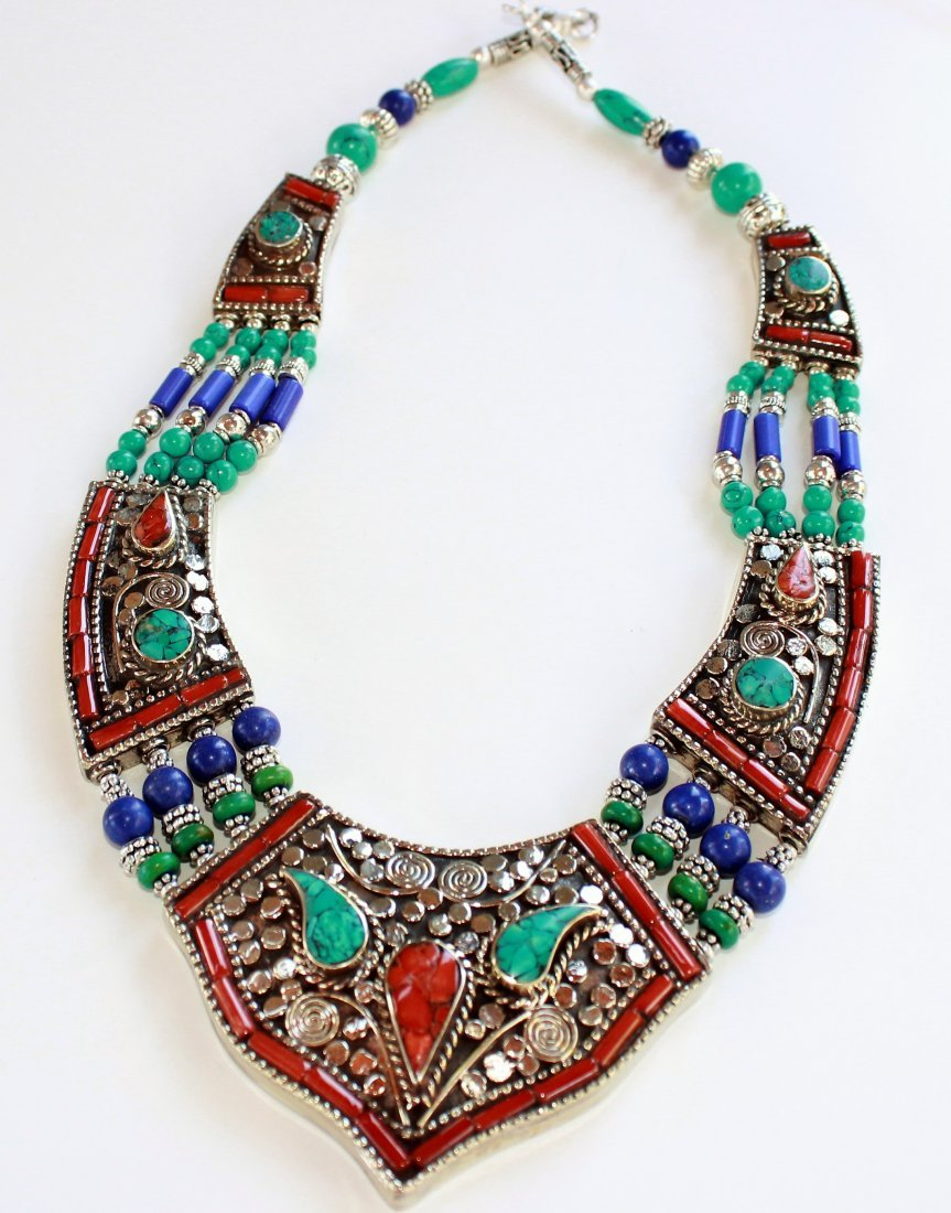 TURQUOISE WITH RED & YELLOW CORAL VERY AWESOME