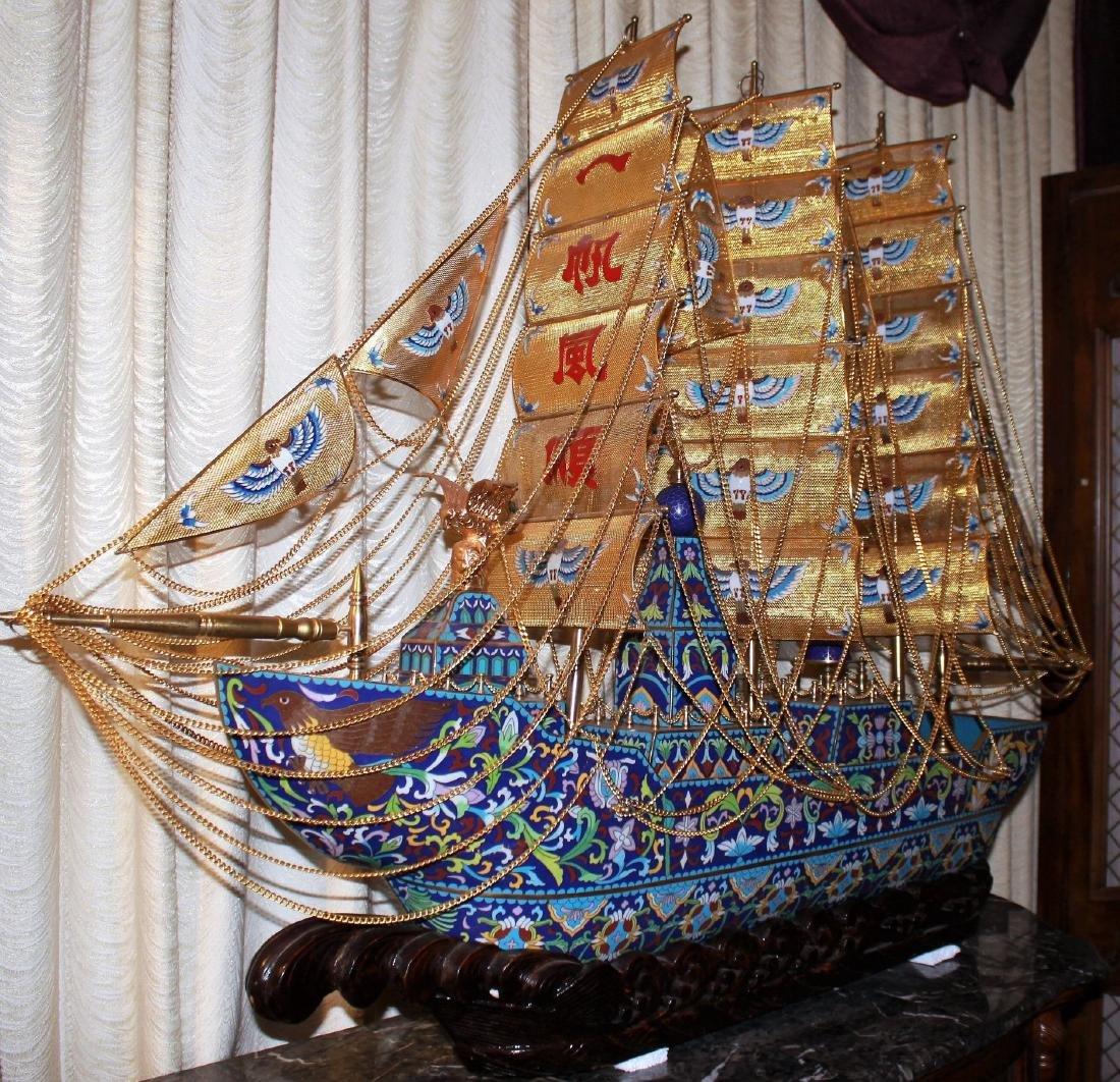 The Last Emperor bronze-Copper-Cloisonne-Enamel Ship