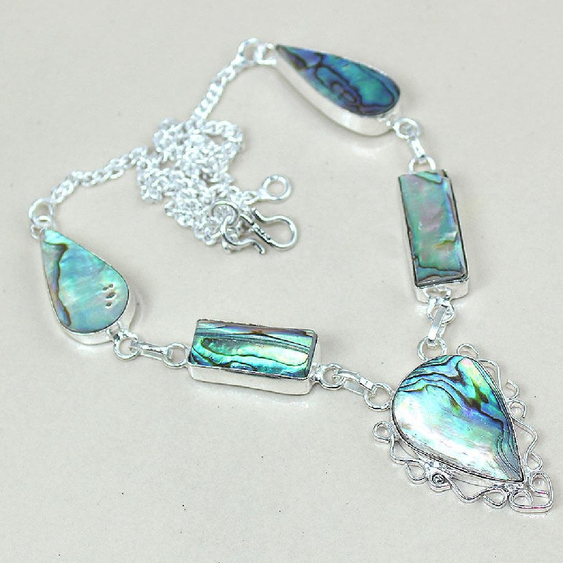 Abalone Shell 925 Silver Necklace