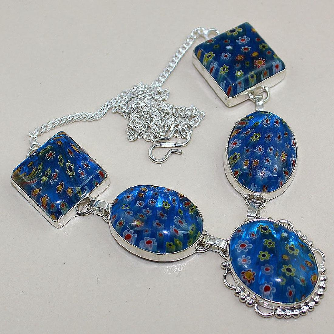 Dichroic Glass 925 Silver Necklace