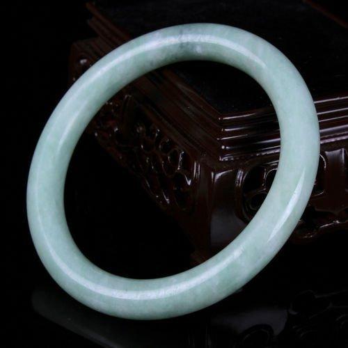 old hand carved jade bracelet (grade A) fine jade brace - 2