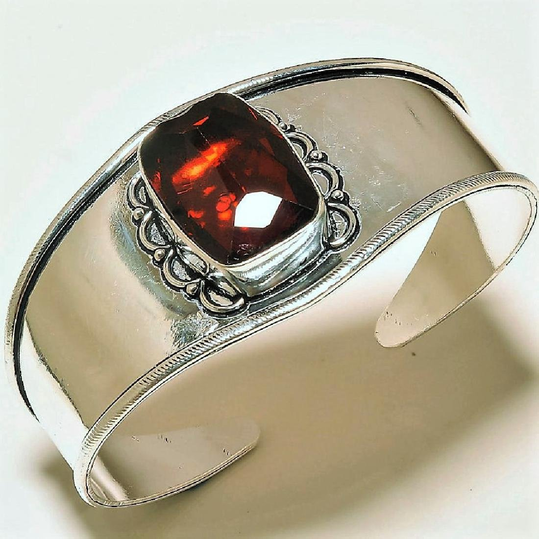 Faceted Mozambique Garnet  Silver Jewelry