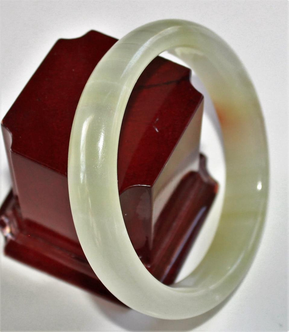 58 MM Natural 100% Jade Jadeite Bangle Bracelet - 2