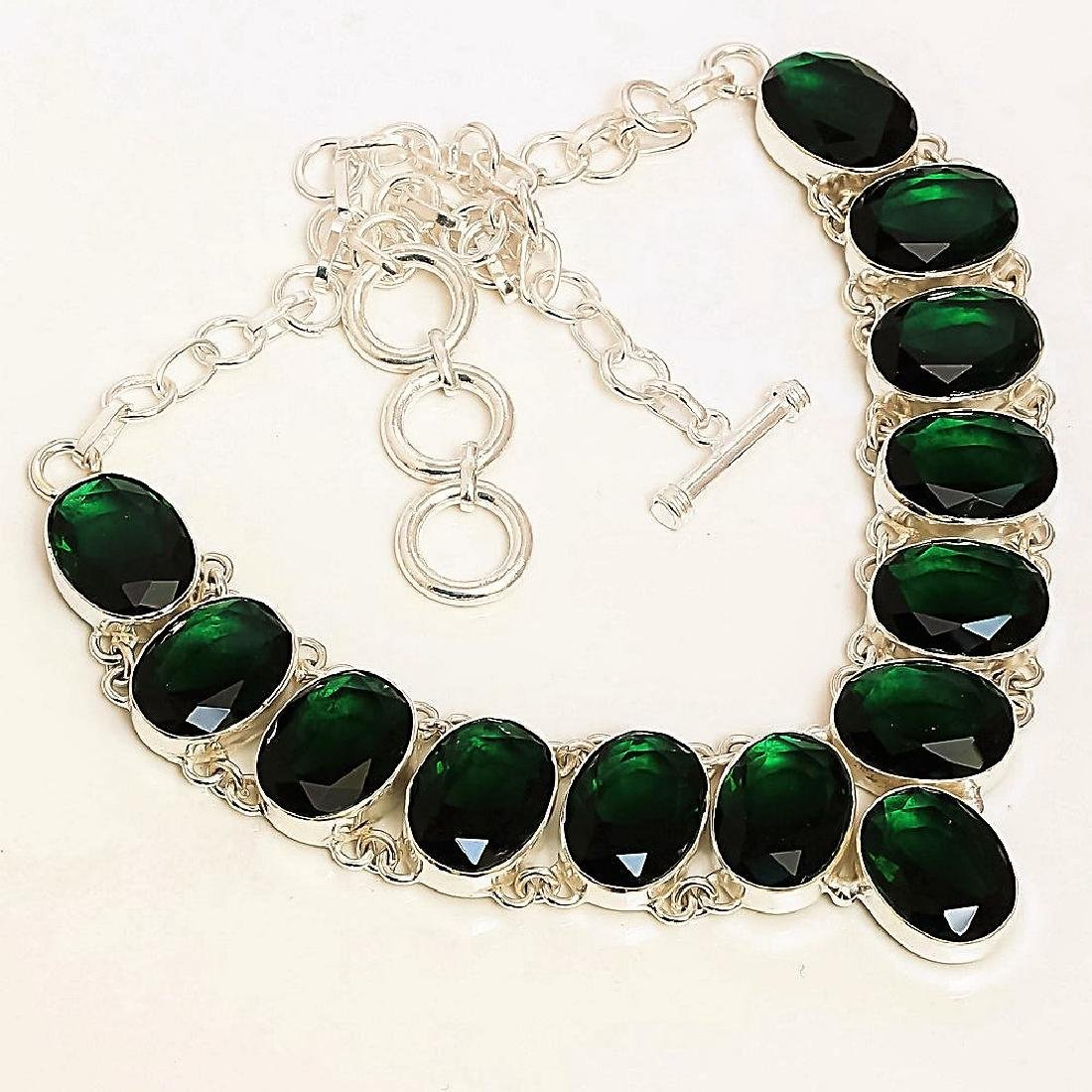 Chrome Diopside Sterling Silver Necklace