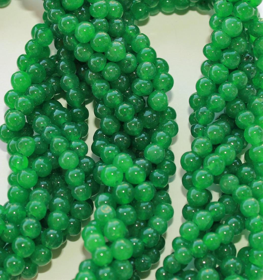 671.45 CTS NATURAL GREEN EMERALD ROUND BEADS NECKLACE - 2