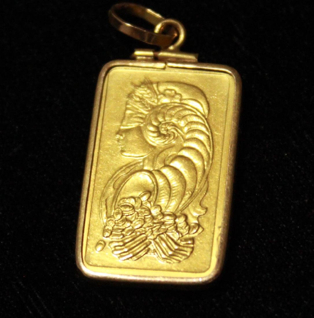24K Solid Gold Pendant