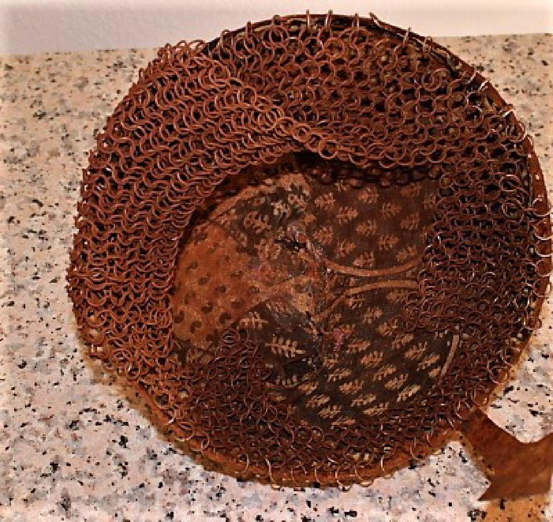 VINTAGE Indo Persian Mughal Islamic Script Helmet - 5