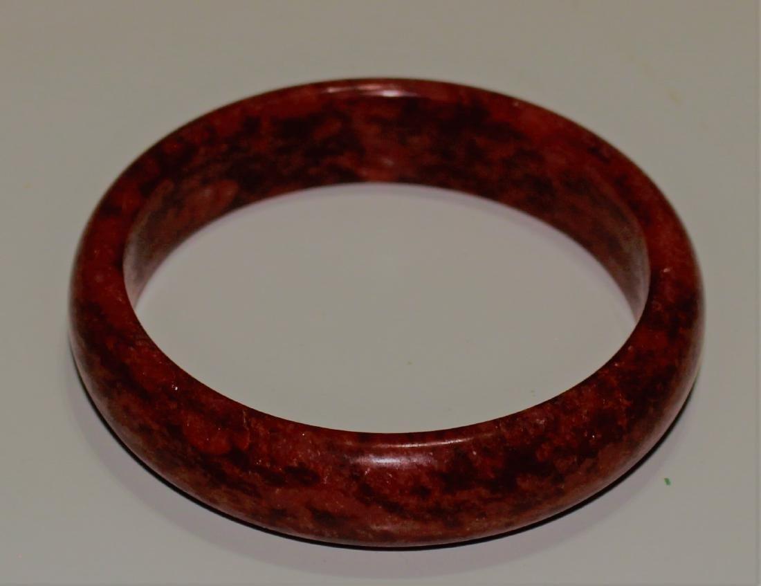 old 100% natural jade hand carved bracelet - 2
