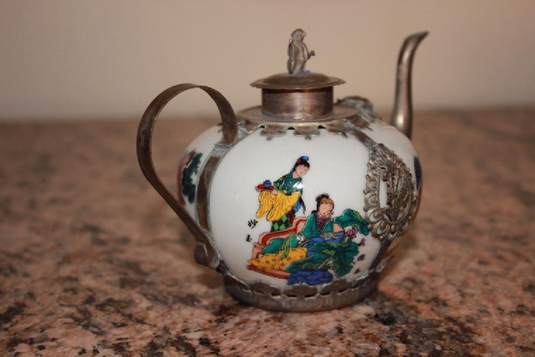 Vintage Ceramic Handpainted Teapot