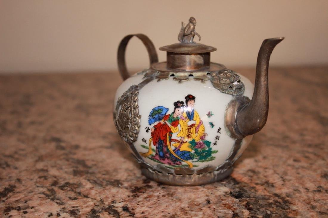 Vintage Ceramic Handpainted Teapot - 2
