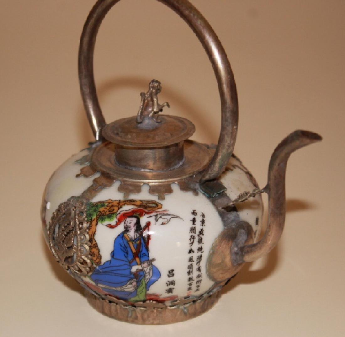 vintige Chinese Porcelain Painted Teapot