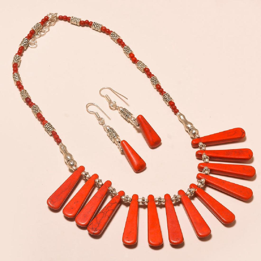 Designer Red Turquoise Beautiful 925 Silver