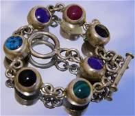 vintage 925 Silver Inlaid Bracelet