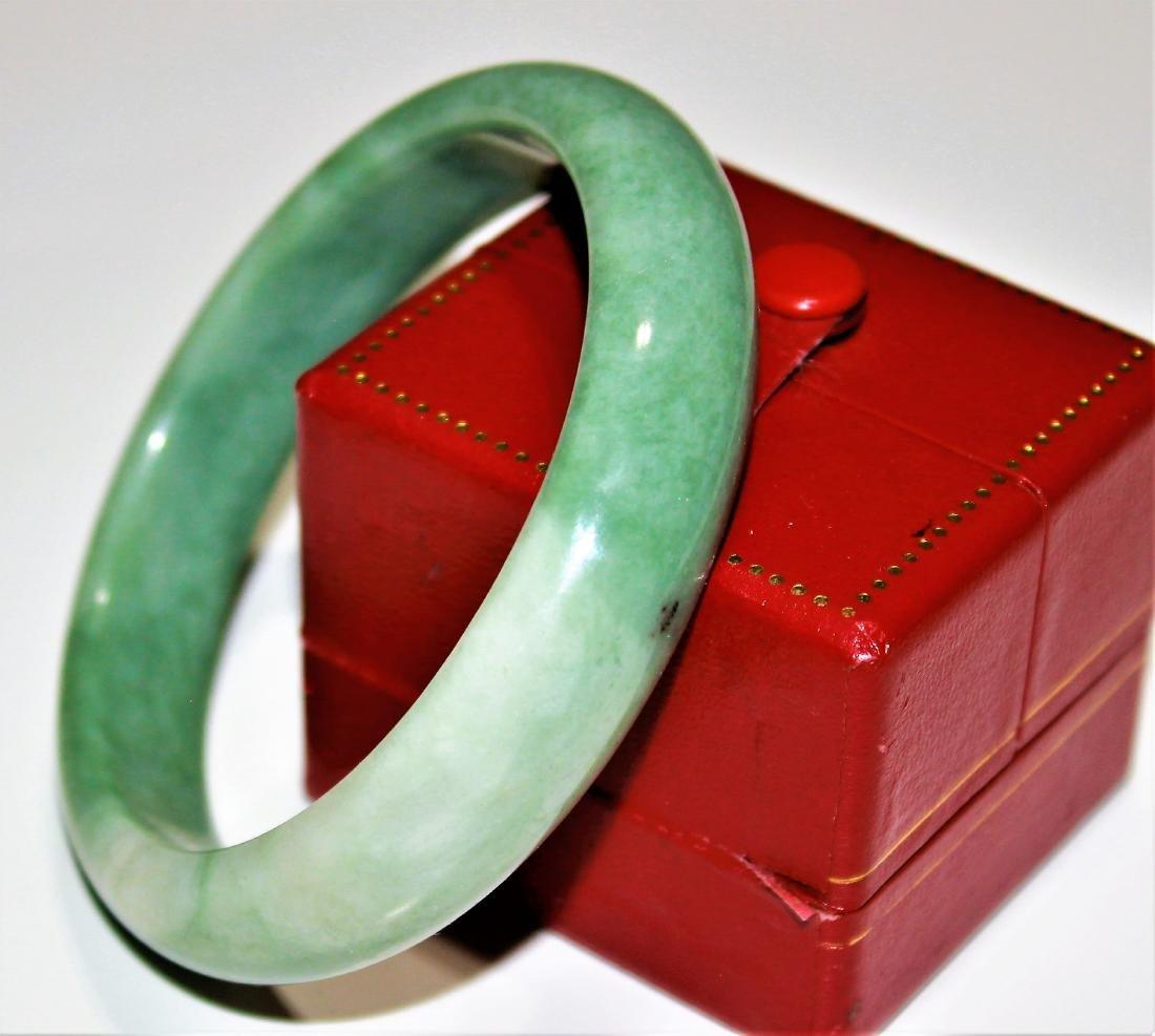 old 100% natural jade hand carved bracelet
