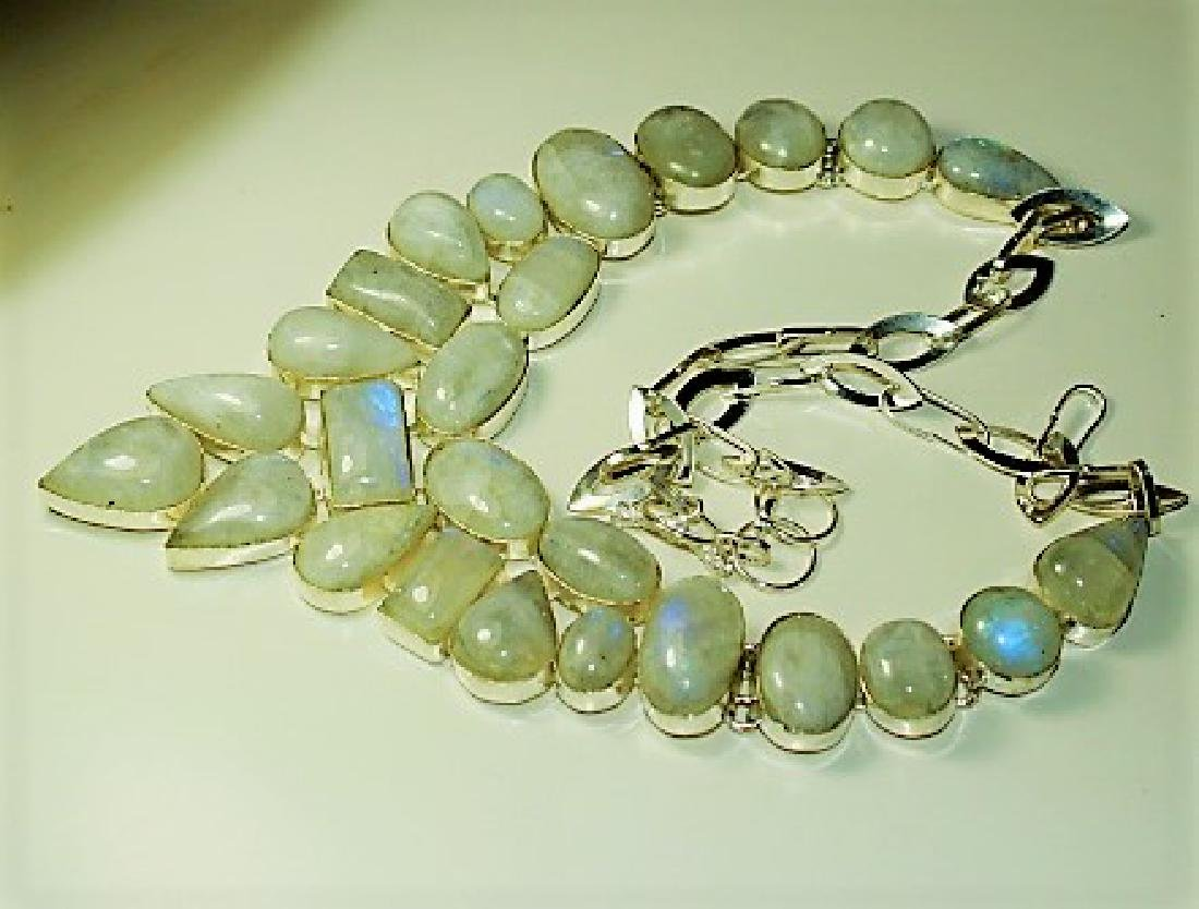 natural Opal in Silver Necklace