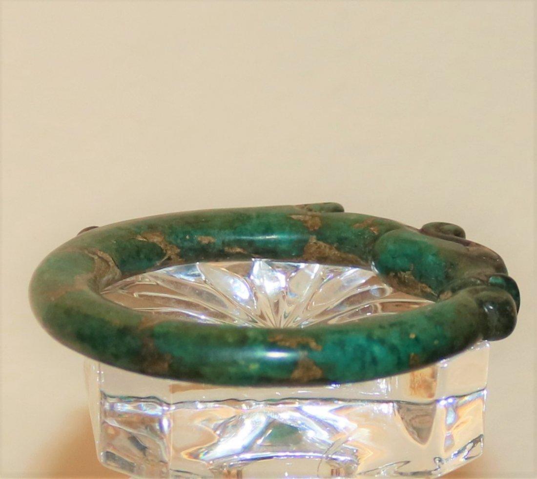 55mm Old China jade bangle intaglio hand carved - 2