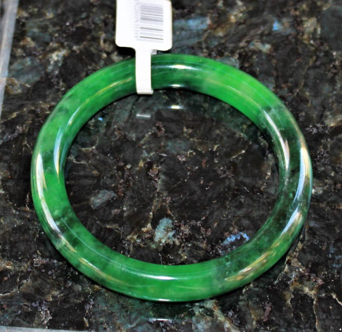 NATURE BEAUTIFUL GREEN JADE JADEITE BRACELET BANGLE - 3