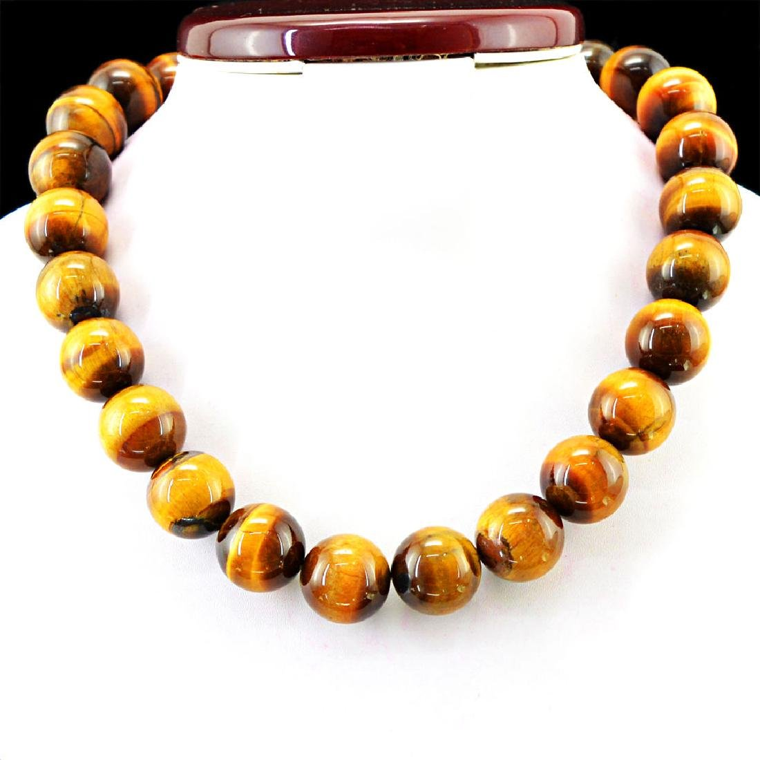 NATURAL RICH GOLDEN TIGER EYE UNTREATED ROUND SHAPED
