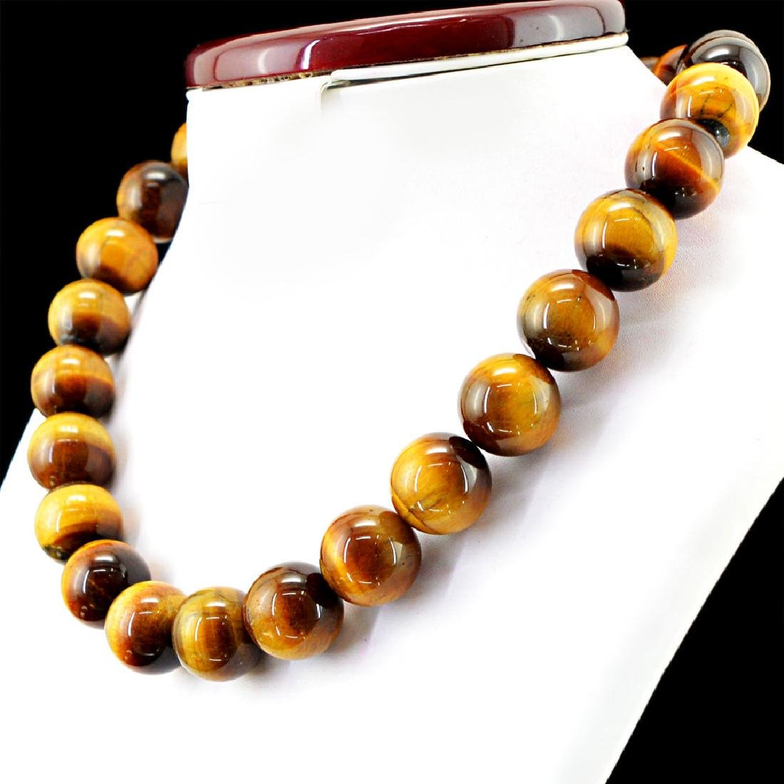 NATURAL RICH GOLDEN TIGER EYE UNTREATED ROUND SHAPED - 2