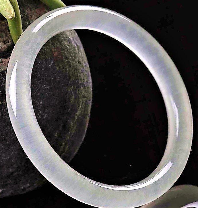 Chinese 100% jade hand-carved bracelet beautiful bangle - 3