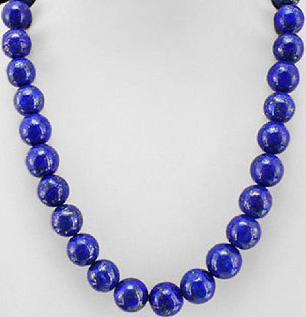 Natural Lapis lazulin Hand-carved Beads 18'