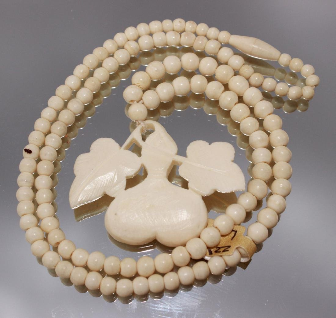 """bone carving necklace 20"""""""