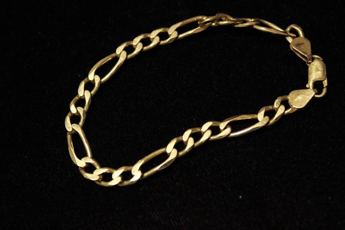 Solid 14K Gold Chainlink Bracelet - 2