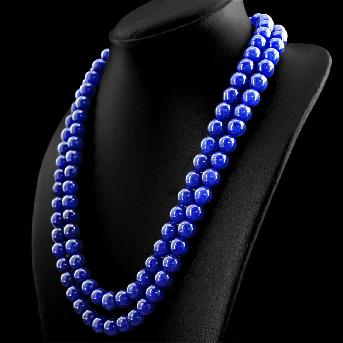EARTH-MINED-2-LINE-RICH-BLUE-SAPPHIRE-ROUND-SHAPE-BEADS