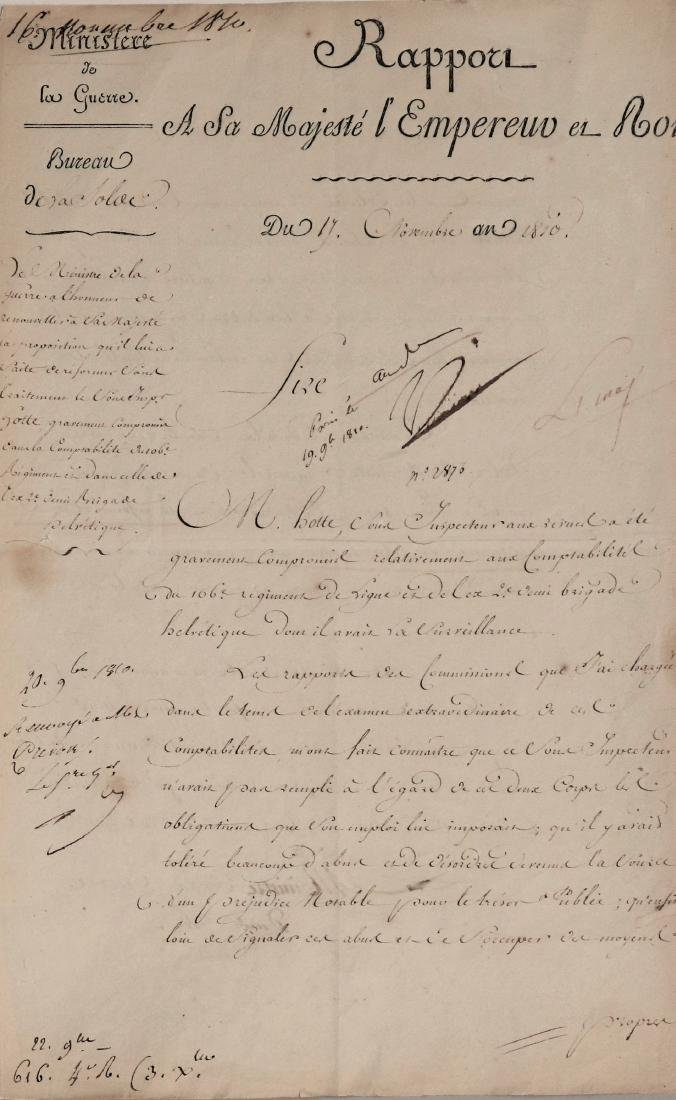 ancient  Manuscript EMPEROR NAPOLEON