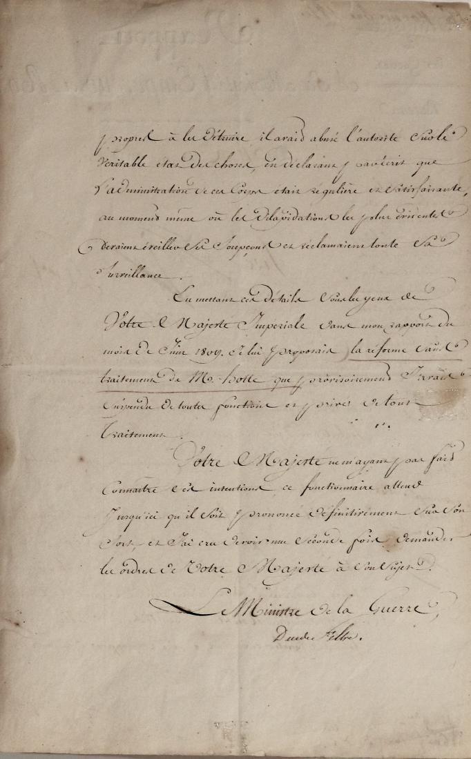 ancient  Manuscript EMPEROR NAPOLEON - 2