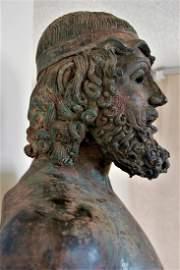 Ancient  Greek Bronze, Statues ( the Greek god  Zeus)
