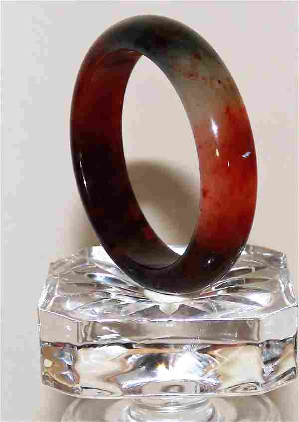 Vintage Chinese antique old natural red jade